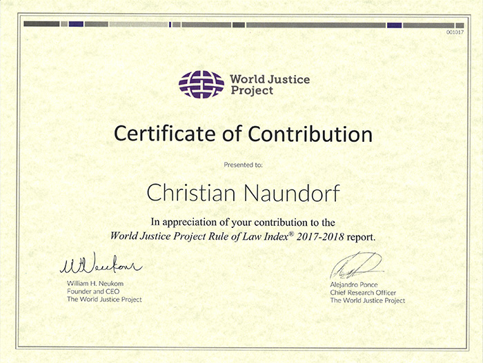World of Justice Project